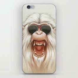 The Great White Angry Monkey iPhone Skin