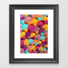 Colourful Pieces Framed Art Print