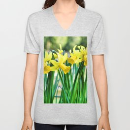 Daffodils for the Love of Spring! Unisex V-Neck