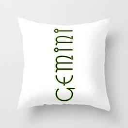 Horizontal Gemini Throw Pillow