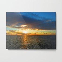 Mauritius Sunset Metal Print