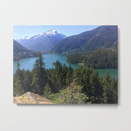 Lake & Mountains Metal Print