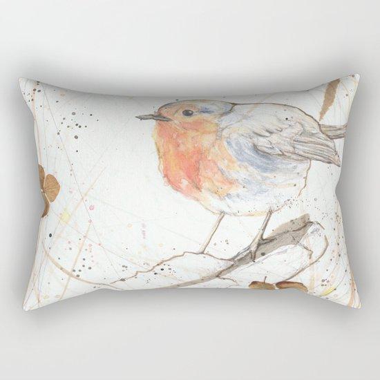 Kleine rote Vögelchen (Little red birdies) Rectangular Pillow