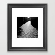 The alley by the wall Framed Art Print