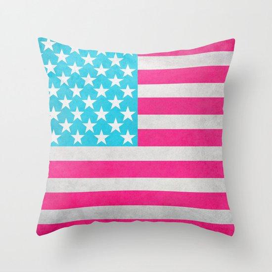 Throw Pillows Usa : USA Flag Throw Pillow by M Studio Society6