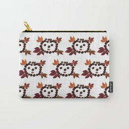 Happy Smiling Autumn Face #2 #pattern #decor #art #society6 Carry-All Pouch