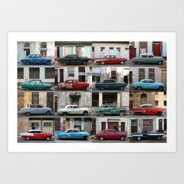 Cuba Cars - Horizontal Art Print