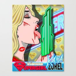 XSuperModels - SuperGirlPop - Kara Zorel Canvas Print