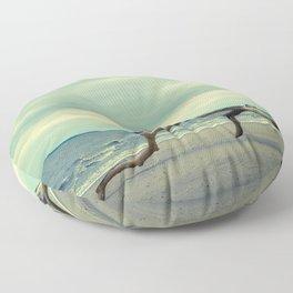 Coastal Landscape Photograph The Cove - Beach Floor Pillow
