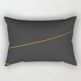 Gold Strings Rectangular Pillow