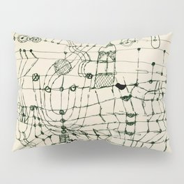 """Paul Klee """"Drawing Knotted in the Manner of a Net"""" Pillow Sham"""