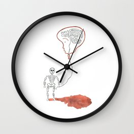A Slow Unravel Wall Clock