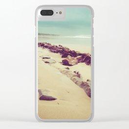 Blue Ocean Path Clear iPhone Case