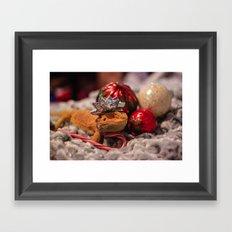 christmas lizard Framed Art Print