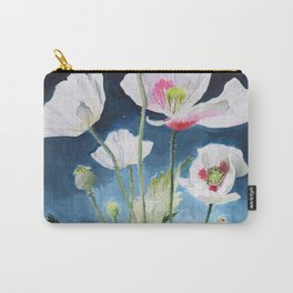 Papaver Somniferum and Amethyst Crystal on a Stary Night at Dawn Carry-All Pouch