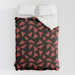 Paper Planes Pattern | Red Black Comforters