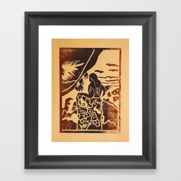 Woman II a La Gauguin Framed Art Print