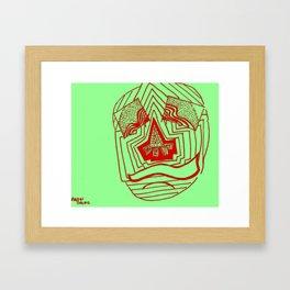 Mask #1: Eyes of Rain  (Green and Red) Framed Art Print