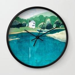 View From Falls Point Marine, Maine Wall Clock