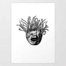 Tentaface Art Print