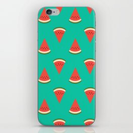 watermelon fruit food fight apparel and gifts teal iPhone Skin