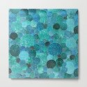 Abstract blue& green glamour glitter circles and dots for Girls and ladies by betterhome