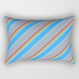 Summer Inclined Stripes Rectangular Pillow