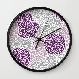 Zinnias Wall Clock