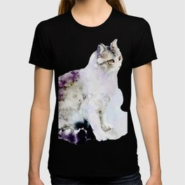 Watercolor Cat Painting T-shirt