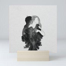 You are my peaceful heaven b&w. Mini Art Print