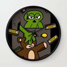 100 Zombies intrusion Wall Clock