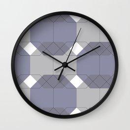 Blue Octagons Wall Clock