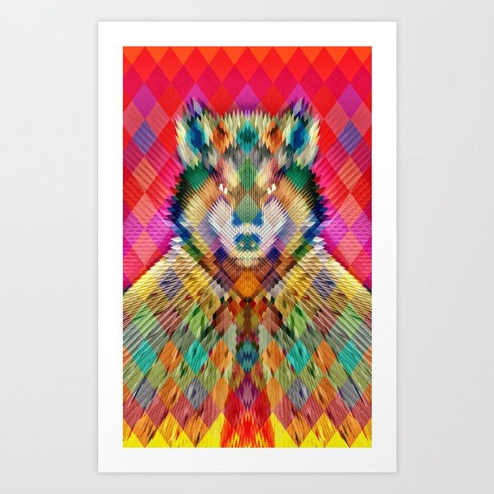 Corporate Wolf Art Print