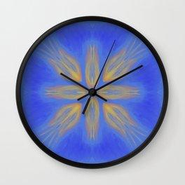 Lily Mandala Wall Clock