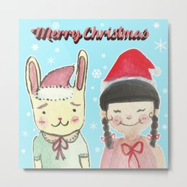 Christmas Friendship Metal Print