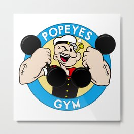 Popeyes Gym Metal Print