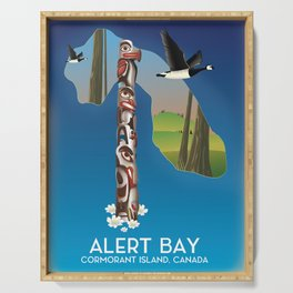 Alert Bay Canada Travel poster. Serving Tray