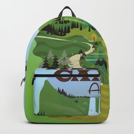 valbona canyon, Albania holiday poster. Backpack