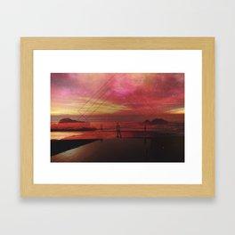 malibu. Framed Art Print
