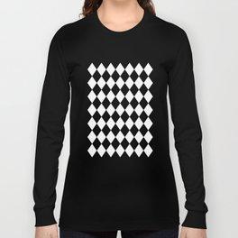 Diamonds (Black/White) Long Sleeve T-shirt