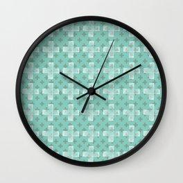 Emerald Twist Wall Clock