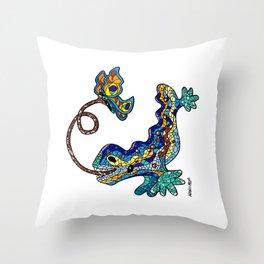 El Drac, Antoni Gaudi, Park Guell, Barcelona Throw Pillow