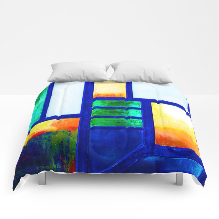 Art Deco Colorful Stained Glass Comforters