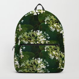 Hills-of-snow hydrangea pattern Backpack