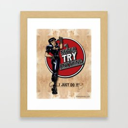 """""""I never TRY anything! I just DO it!"""" A tribute to Tura Satana Framed Art Print"""