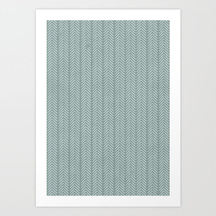 stamb chevron Art Print
