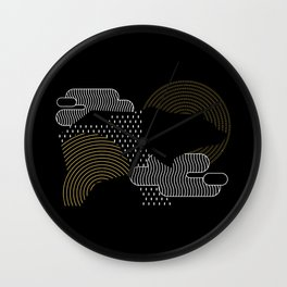 Bear-graphi Wall Clock