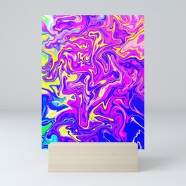 Colorful marble Mini Art Print