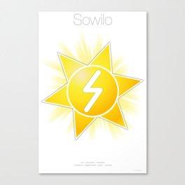 Runes Series - Sowilo Canvas Print