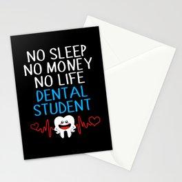 Dentist Funny Dental Student No Money Life Sleep Stationery Cards